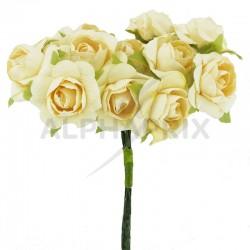 Roses sur tige IVOIRE - le bouquet en stock