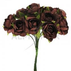 Roses sur tige CHOCOLAT - le bouquet en stock