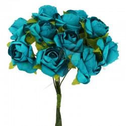 Roses sur tige TURQUOISE - le bouquet en stock