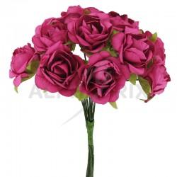 Roses sur tige FUCHSIA - le bouquet en stock