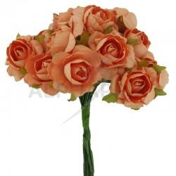 Roses sur tige PECHE - le bouquet en stock