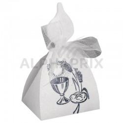 Boîtes Bougie BLANC (impression argent) par 10 en stock