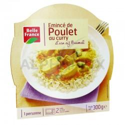 Barquettes émincé de poulet au curry riz 300g Belle France