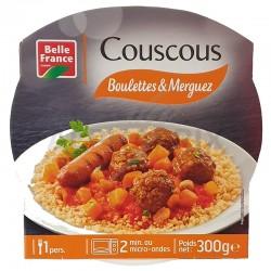 Barquettes couscous boulettes et merguez 300g Belle France