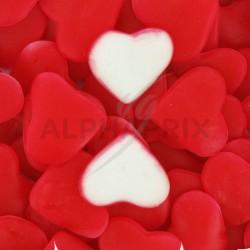 Coeurs rouges gélifiés lisses kg Dulceplus en stock