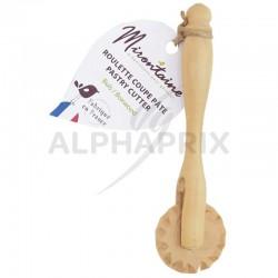 Rouleau coupe pâte en buis 11.5cm en stock