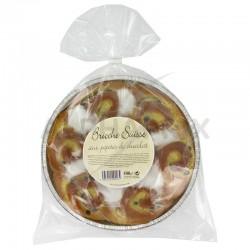 Brioche suisse crème patissière pépites choc 500g en stock