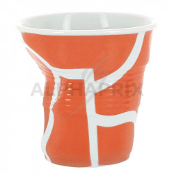 Gobelet froissé 8cl Revol All Over fond Orange en stock
