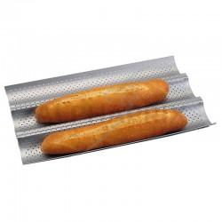 Moule 3 baguettes revêtu 38cm - silver top Patisse en stock