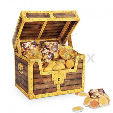 Coffret Pirate Chocomonnaie 80 filets 30g de pièces en chocolat
