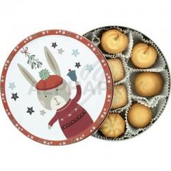 Boîte Métal biscuits Winter Woodland 150g en stock