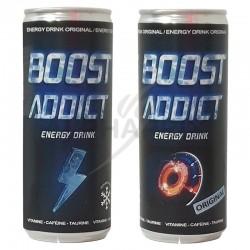 BOOST ADDICT Energy Drink regular can 25cl en stock
