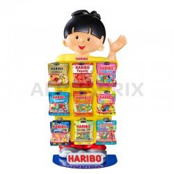 Présentoir de comptoir Hariboy mini sachet 9 boîtes en stock