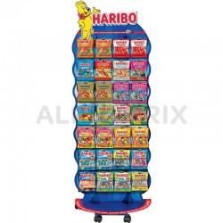 Présentoir Haribo 25 cartons sachets 100/120g en stock