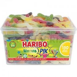 Haribo Worms pik par 150 en stock