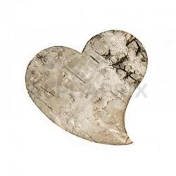 Coeurs en écorce de bois naturel par 10 en stock