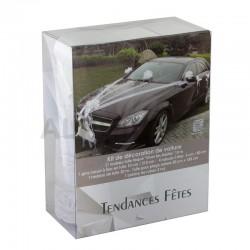 Décorations pour voiture Luxe BLANC - le kit en stock