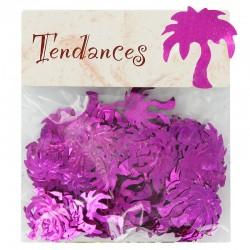 Confettis de table Palmier FUCHSIA - sachet de 10g en stock