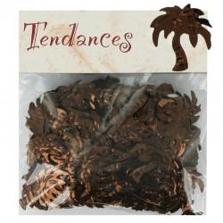 Confettis de table Palmier CHOCOLAT - sachet de 10g en stock