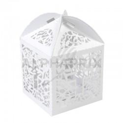 Boîtes dentelle Communion BLANC par 10 en stock