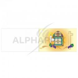 Etiquettes vitrail Communion par 10 en stock