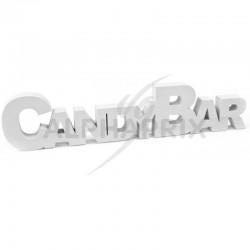 Déco de table CANDY BAR en bois BLANC en stock