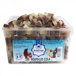 Bouteilles cola candie tubo Pierrot Gourmand en stock