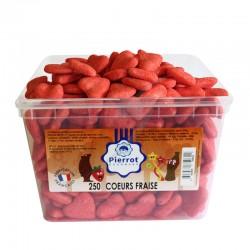 Coeurs rouges fraise tubo Pierrot Gourmand en stock