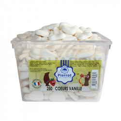 Coeurs blancs vanille tubo Pierrot Gourmand en stock