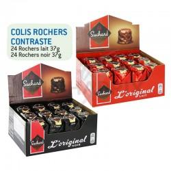 Colis Rocher contraste Lait + Noir Suchard en stock