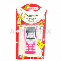 Téléphone portable jouet + pile en stock