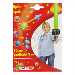 Epées spatiales gonflables 78 cm en stock