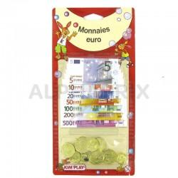 Pièces et billets en euros en stock