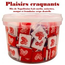 ~Seau Napolitains mix 1.5kg Plaisirs Craquants en stock