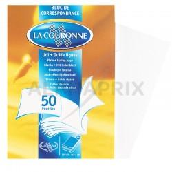 Bloc lettre a5 uni 15x21 (50 feuilles) en stock
