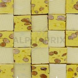 Nougats gros cubes citron vrac en stock