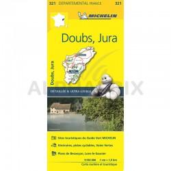 Carte Départementale Doubs Jura en stock