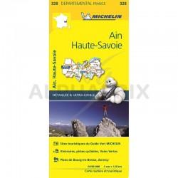 Carte Départementale Ain Haute Savoie en stock