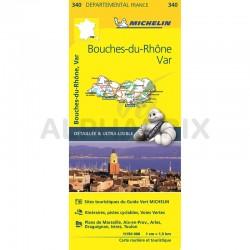 Carte Départementale Bouche du Rhône Var en stock