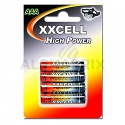 Piles salines XXCell blister 4 piles r03 en stock
