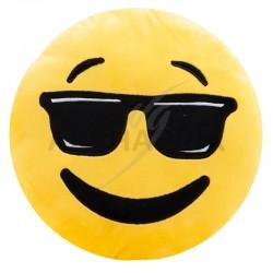 Peluche coussin cool emoji en stock