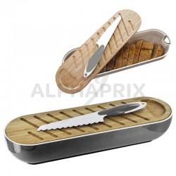Corbeille pain avec planche et couteau 40x13x8cm en stock
