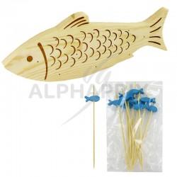 Planche aperitive poisson et ses 10 piques en stock