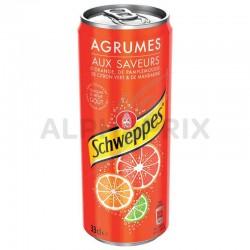 Schweppes agrum' boîte 33 cl en stock
