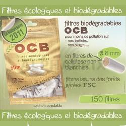 Filtres bio ocb slim sachets de 150 filtres en stock