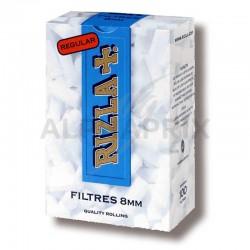 Bouts filtres acetate 8mm bleu rizla+ en stock