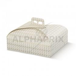 Boîte à gâteaux décor alvéoles OR en stock