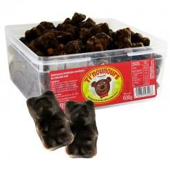 Oursons guimauve chocolat noir bac 600g en stock