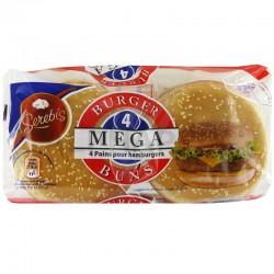 Mega Hamburger Sésame 300g en stock