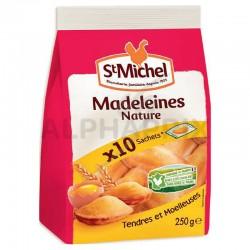 Madeleines coquilles sachets indiv. x10 St Michel 250g en stock